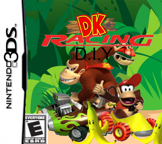 File:Donkey Kong Racing DIY box art.png