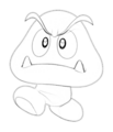 Drawn goomba