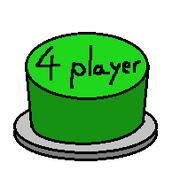 Green 4 player Button