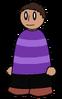 Shirt Purple Striped Generic
