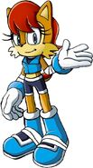 Sally boom sonic adventure style