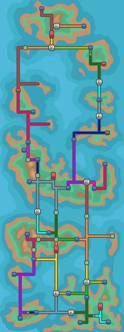Oculto Islands Routes