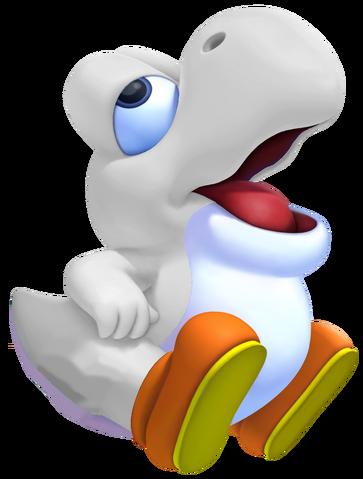 File:White Baby Yoshi 3D.png