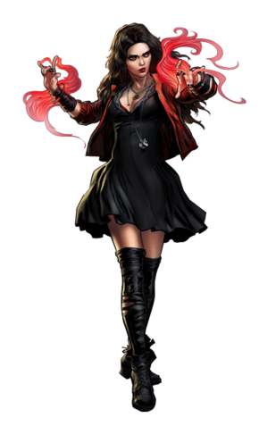 Avengers Age of Ultron Scarlet Witch Portrait Art