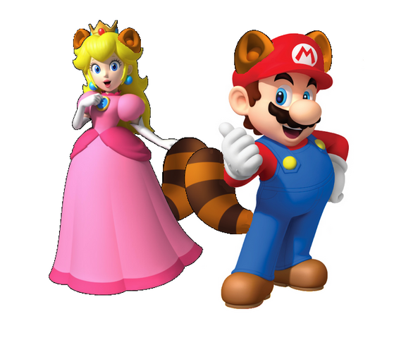 File:Racoon Mario x peach.png