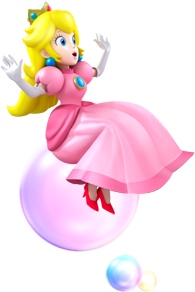 Princess Peach Bubble Artwork - Mario Party Island Tour