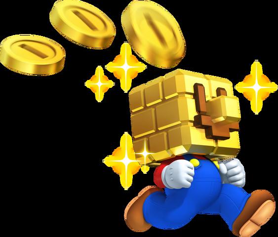 File:Gold Block Mario NSMB2.png