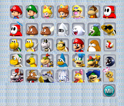 Koopa Kart 3DS Selection Screen