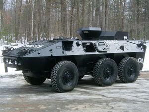 142 police tank