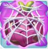 Onion grumpy under cobweb on slime