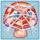 Mushroom under cobweb