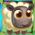 White sheep on grass and bridge