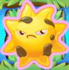 Sun grumpy on grass and bridge