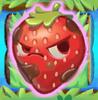 Strawberry grumpy on grass and bridge