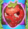 Strawberry grumpy on slime and bridge