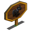 Black Pony Foal Mastery Sign-icon