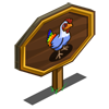 Rainbow Chicken Mastery Sign-icon