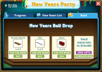 Inside of a New Year's Ball