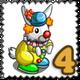 Clowny Rabbit Stamp-icon