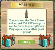 Mystery box clock tower