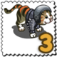 Studded Cat Stamp-icon