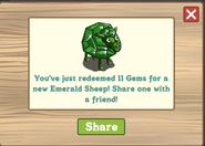Emerald Sheep Redeemed