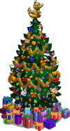 Holiday tree 100 gifts