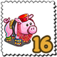 Exotic Dancer Pig Stamp-icon