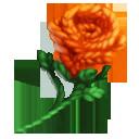 Orange Yarn Flower