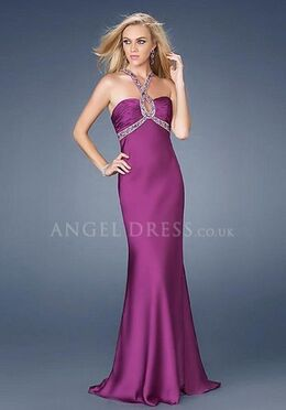 Column Straps Elastic Silk Like Satin Sleeveless Floor Length With Beading Prom Dress