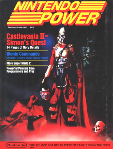 File:Castlevania II Simon's Quest - Simon Belmont as seen on the front cover of Nintendo Power.png