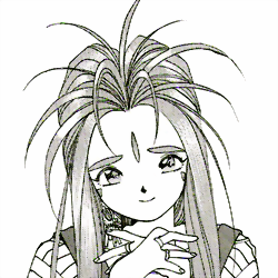 File:Oh My Goddess - Belldandy as she appears in the manga.png