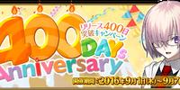 400 Days Anniversary