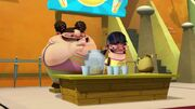 Yo and Lupe at their lemonade stand
