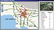 LA Traffic Showing Riot on 7th