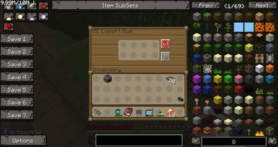 ME Export Bus GUI