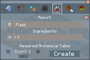 Flask - Crafting Screen