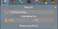 Tantalum Bow