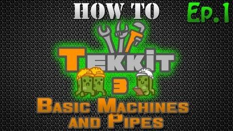 How to Tekkit - Basic Machines and Pipes