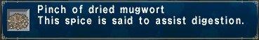 Dried mugwort