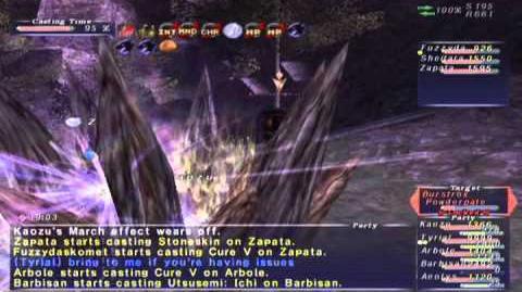FFXI NM Saga 341 Burstrox Powderpate NM Full Battle
