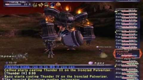 FFXI NM Saga 246 Ironclad Pulverizer NM Full Battle