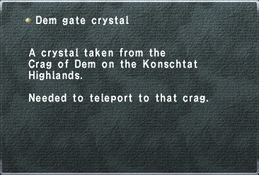 Dem Gate Crystal