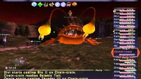 FFXI NM Saga 242 Cirein-Croin NM (Full Battle)