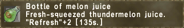 Bottle of melon juice