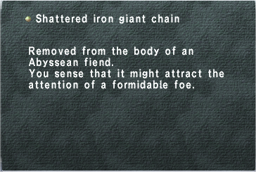 Shattered Iron Giant Chain