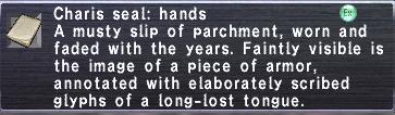 Charis seal hands