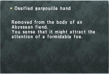 Ossified Gargouille Hand