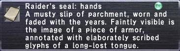 Raider's Seal Hands