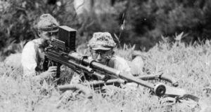 Type 97 Anti-Tank rifle combat